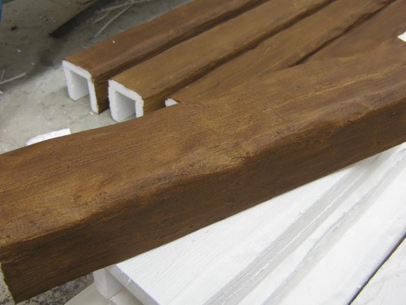 Finestre antisfondamento travi in vetroresina finto legno