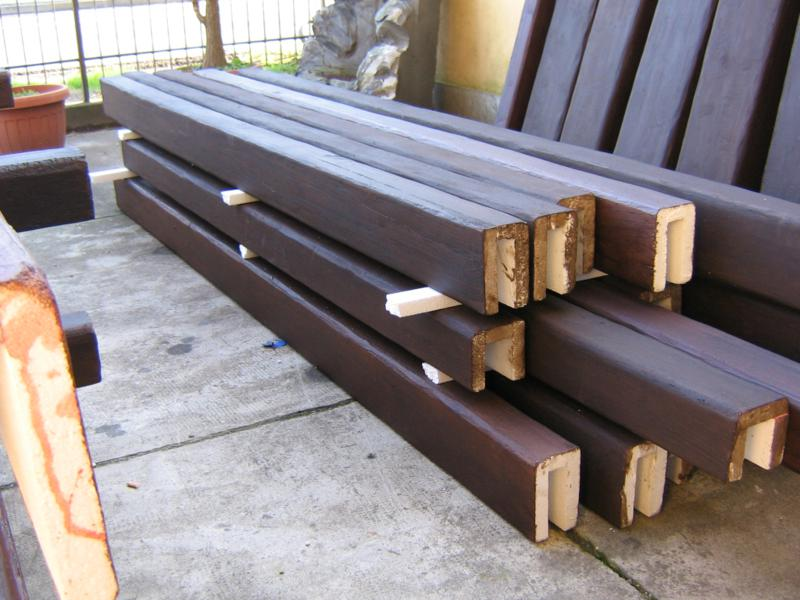 Travi finto legno bianche for Copri travi finto legno