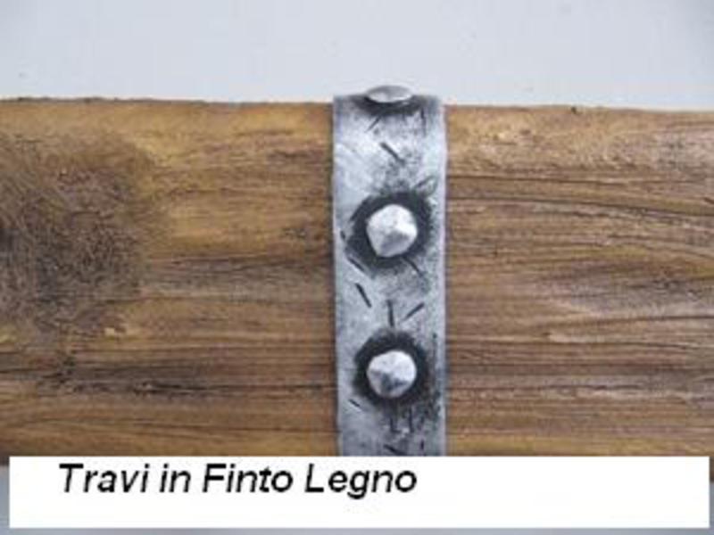 Finte travi in legno bricoman for Polistirolo finto legno